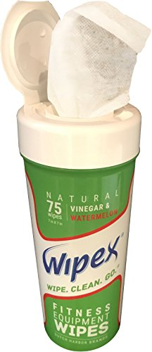 New Wipex Natural Fitness Equipment Wipes for Personal Use, Vinegar with Watermelon Scent - Great for Yoga, Pilates & Dance Studios, Home Gym, Peloton Bike Wipes, Spas & More (4 Canisters, 300 Wipes) by Wipex (Image #5)