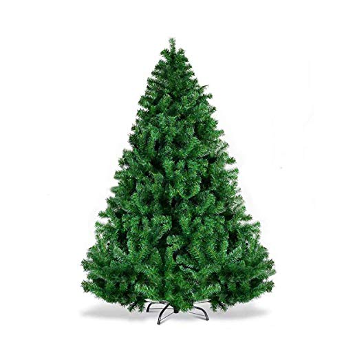 BonusAll 7ft Christmas Tree Premium Artificial Flocked Xmas Pine Holiday Decoration Green (Christmas Tree Flocked)