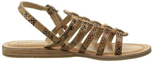 Les Tropéziennes par M. Belarbi Havapo, Sandalias de Gladiador Mujer Beige (Serpent Beige)