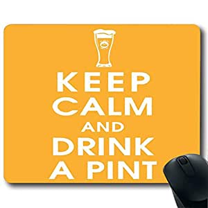 """KEEP CALM AND DRINK A PINT Customized Rectangle Non-Slip Rubber Mousepad Gaming Mouse Pad 9""""X7.4"""""""