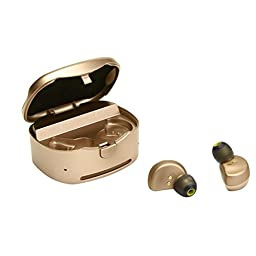 DZT1968 Mini Twins Wireless Bluetooth v4.1+EDR Stereo In-Ear Earphones Earbuds with Manual (Gold)