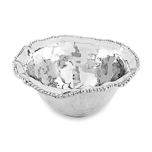 (Beatriz Ball Large Organic Pearl Nova Flirty Bowl, Metallic )