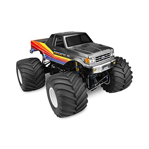 89 Ford F250 Monster Truck Clear Body w/Racerback