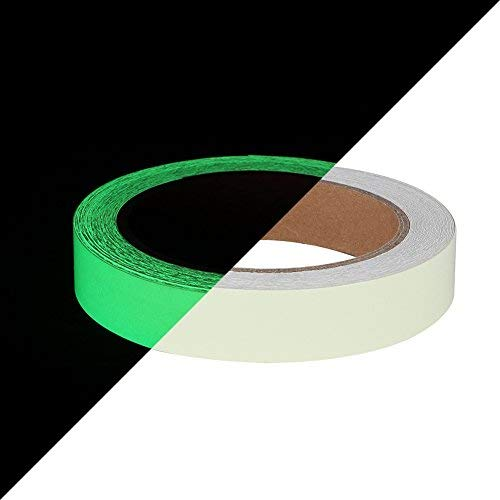 Glow in The Dark Tape 30 ft x 1 inch,Fluorescent Tape, Premium Quality Non-Toxic, 12 Hour Glow Waterproof Stickers for Stairs,Walls,Steps and Exit Sign