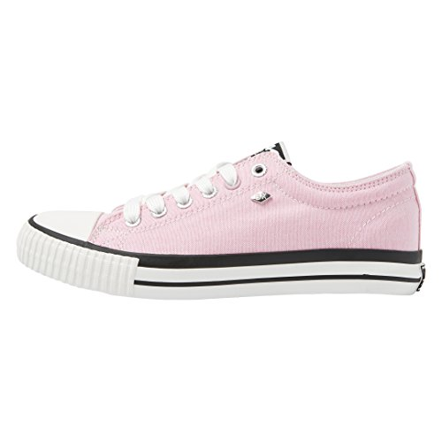 British Knights Women's Master Lo Low-Top Sneakers, LT Grey Rose Gold Pink