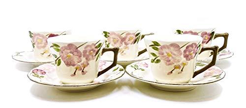 Franciscan Desert Rose Floral Teacup & Saucer Set,Vintage,5x