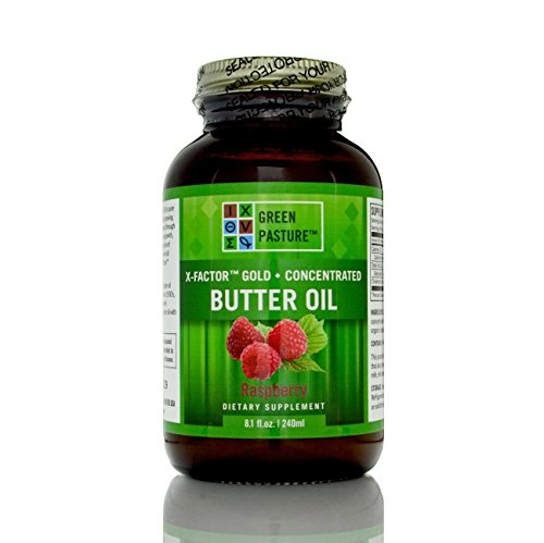 Green Pasture X-Factor High Vitamin Butter Oil, 8.1 oz/240mL - Raspberry (X Factor Gold High Vitamin Butter Oil)