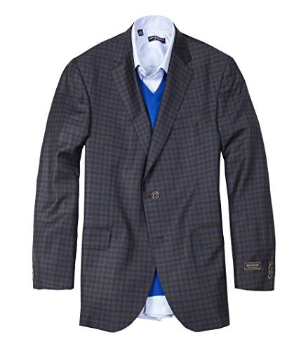 Jack Victor Males's Gibson Navy-Brown Verify Sport Coat