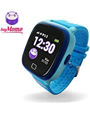 SoyMomo H2O - Smartwatch for Kids with GPS Tracker, Two-way calling SIM Watch Phone for Children, SOS Alert Button and Voice Messaging Function, Kids GPS Smart Watch Phone Boys and Girls