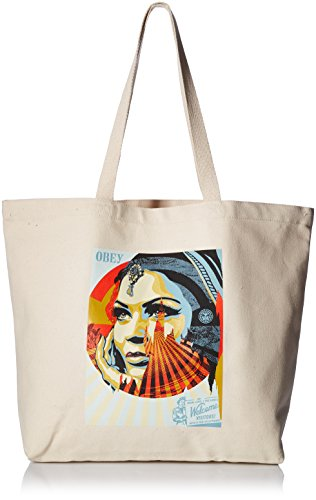 Price comparison product image OBEY Men's Target EXCEPTIONS Tote Bag,  Natural,  O / S