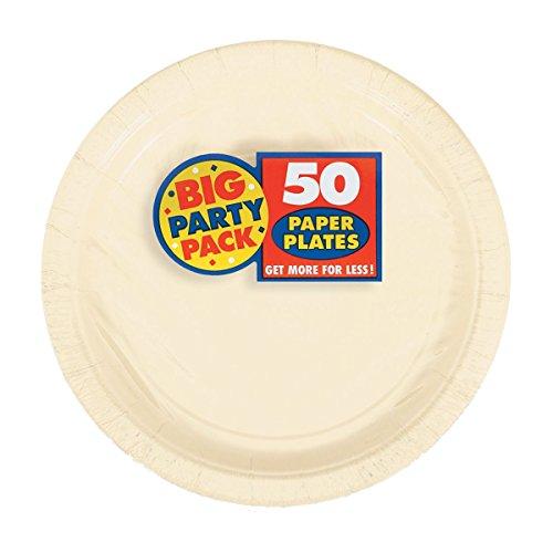 Big Party Pack  Vanilla Crème Paper Plates | 7