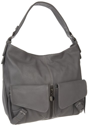 Sydney Love Buckle Large Hobo,Grey,One Size, Bags Central