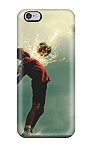 Durable Defender Case For Iphone 6 Plus Tpu Cover(football)
