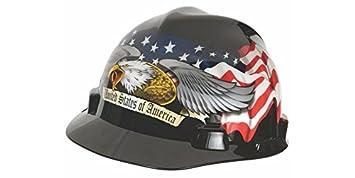 Mine Safety Appliances 1 x 1 x 1 10079479 MSA American Eagle V-Gard Freedom Series Class E Type I Hard Cap with Fas-Trac Suspension and Eagle MSA