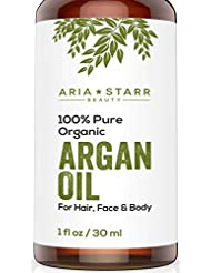 Aria Starr Beauty ORGANIC Argan Oil For Hair, Skin,...