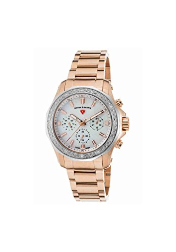 Swiss Legend Women's 'Islander' Swiss Quartz Stainless Steel Casual Watch, Color:Rose Gold-Toned (Model: 16201SM-RG-22-SB) - Swiss Legend Rose Gold Tone Watch