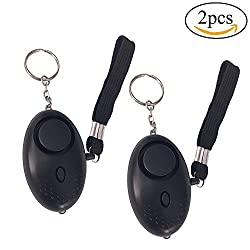 Personal Alarm for Women,Teepao 2 Pack 140DB Emergency Self-Defense Security Alarm Keychain Self-Defense Security Sound Alarm with Safe Mini LED Flashlight Best for Kids, Women, Night Workers( Black)