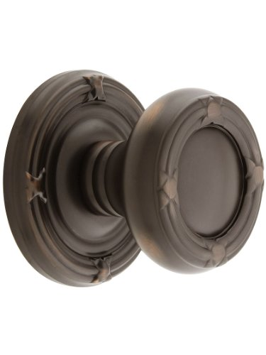 Ribbon And Reed Door Set With Round Brass Knobs Double Dummy In Oil Rubbed Bronze. Old Door Knobs. Emtek Products Ribbon