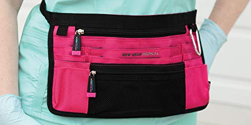 - Trustee Antimicrobial Hip Pouch- Pink for Nurses, Home Health and Medical Professionals - Hands Free Nurse Fanny Pack