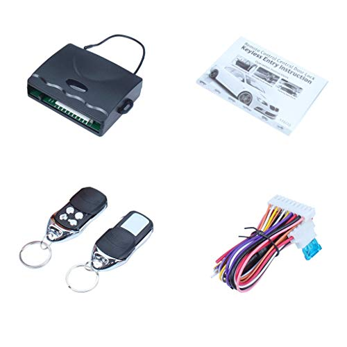 Remote Lock,Universal Keyless Entry System Auto Door Lock Actuators Car Alarm Remote Central Kit with 2 Remote Controllers ()