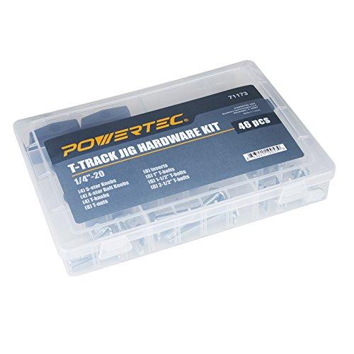 - POWERTEC 71173 T-Track Jig Hardware Kit, 1/4