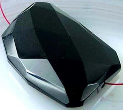 - 40mm Black Onyx Agate Faceted Freeform Pendant Bead