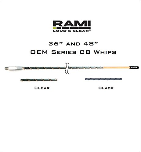 RAMI 3′ Black Multiband Antenna OEM Series Fiberglass CB AM FM WB Designed for Freightliner (Century, Columbia, Coranado and Argosy), Volvo Trucks (All Models 2001 and prior)