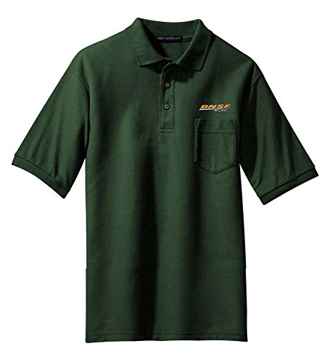BNSF Swoosh Embroidered Polo Forest Green Adult 4XL [48]