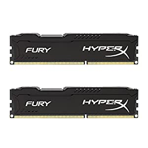 Kingston HyperX FURY 8GB Kit (2x4GB) 1600MHz DDR3 CL10 DIMM - Black (HX316C10FBK2/8) 41alPRu%2BuyL. SS300