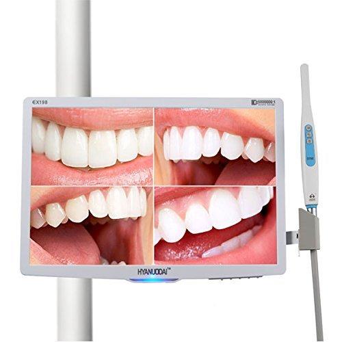 EAST Dental Brand New 18.5 inch Monitor VGA Port & 4 GB Card Intraoral Camera1/4 CMOS 6 LED Light Oral Camera by Aphrodite