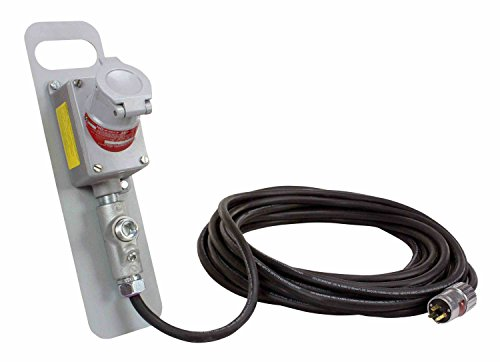 Explosion Proof Extension Cord - 15' 12/3 SOOW Cord - 20 Amp Service by Larson Electronics