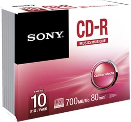 Sony 10CRM80SS - Pack de 10 Unidades de CD-R vírgenes: Amazon.es ...