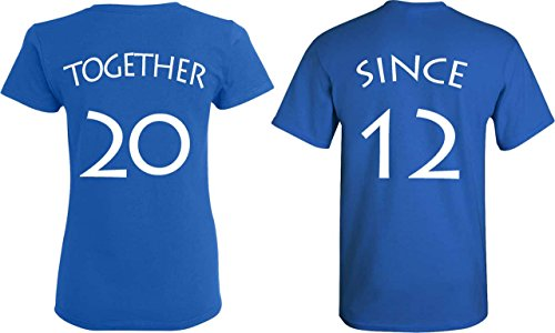 [YOUR DATE - 2012 or else] - Together Since Matching Couple Anniversary Shirts - [PERSONALIZED] (Cute Couple Shirt Ideas)