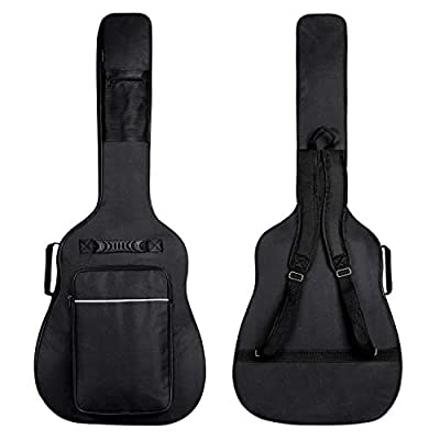 CAHAYA Guitar Bag for 41 42 Inch Acoustic Guitar Gig Bag 0.5in Extra Thick Sponge Overly Padded Waterproof Guitar Case Soft Guitar Backpack Case with Pockets Organizer
