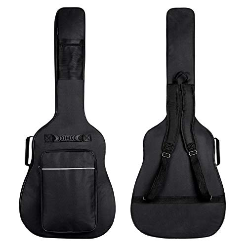 CAHAYA Guitar Bag [Upgraded Premium Version] for 41 42 Inch Acoustic Guitar Gig Bag 0.5in Extra Thick Sponge Overly Padded Waterproof Guitar Case Soft Guitar Backpack Case with Pockets Organizer (Guitar Case Hard Acoustic)