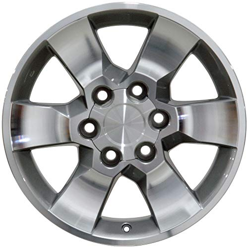 (Partsynergy Replacement For Aluminum Alloy Wheel Rim 17 Inch Fits 1996-2018 Toyota 4Runner 6-139.7mm 6 Spokes Silver Machined 17x7 )
