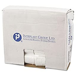 Inteplast EC243306N Commercial Can Liners, Perforated Roll, 16gal, 24 x 33, Natural, 1000/Carton
