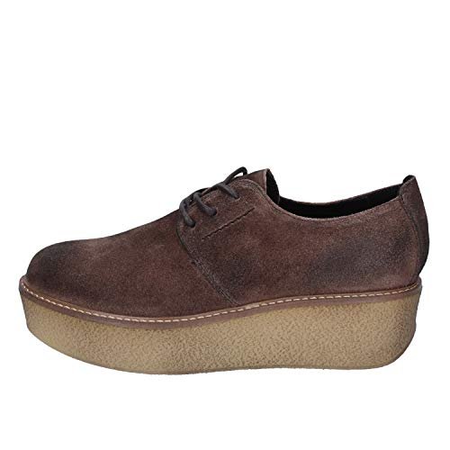 62803827 Janet Sport Oxfords-Shoes Womens Suede Brown 8.5 US