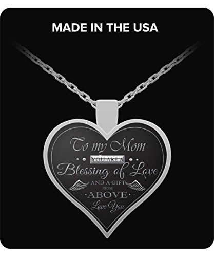 I Love You Mom Necklace - Silver Heart Pendant - Gift For Any Occasion