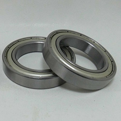 Ochoos 2pcs 256217mm Thin-Wall Bearing 6305RS Bearing Steel Sealed Double Shielded Dustproof for Instrument Electrical
