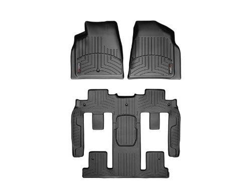 (WeatherTech FloorLiner Complete Set Black - GMC Acadia / Acadia Denali 2007-2010 with 2nd Row Bucket Seating )