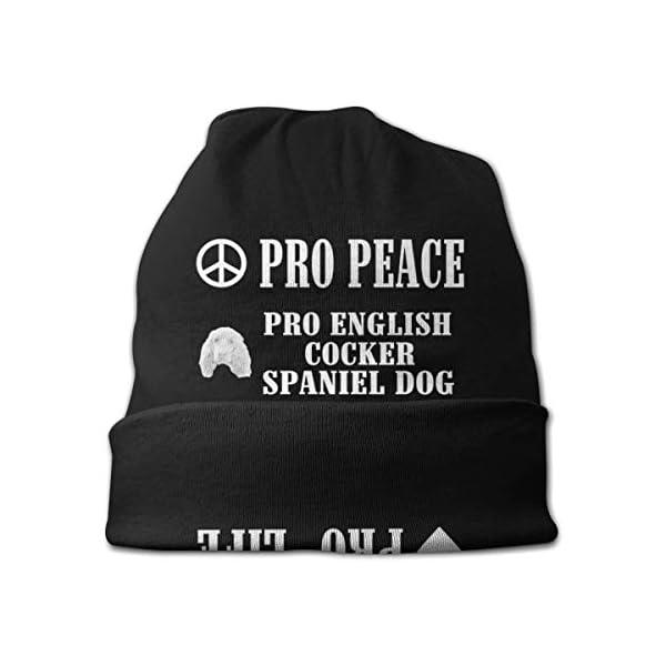 Pro Peace Pro Life Pro English Cocker Spaniel Dog Unisex Knit Hat Soft Stretch Beanies Skull Cap Hedging Cap,Beanie Hat 3