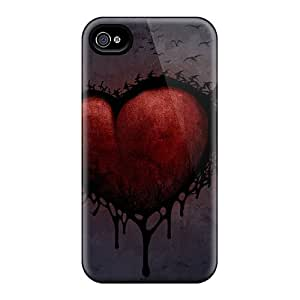 AccDavid GZJ6126mxaP Case For Iphone 4/4s With Nice Sad Heart Appearance