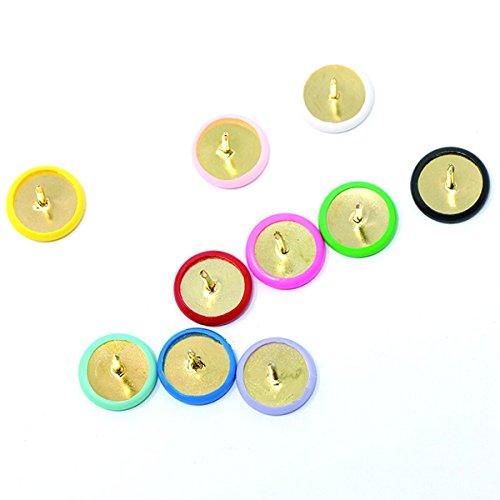 Cikuso 300 Stuecke Heftzwecke Kunststoff Rundkopf Buero Daumen Reisszwecke 2//5 Zoll gemischt 9 Farben