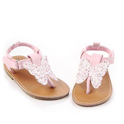 BZLine® Baby Mädchen Baby Schuhe Mode Schuhe Schmetterling-Knoten Sandalen Pink