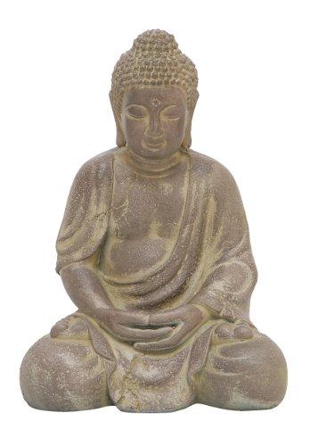 Sentado Estatua De Buda, envejecido amarillo