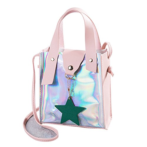 Pendant Women Shoulder Black Bag Pu Fashion Purse Bag Small Chain Leather Cute Star with Ladies Crossbody Pink Laser NXDA Satchel Backpack F4w1zq
