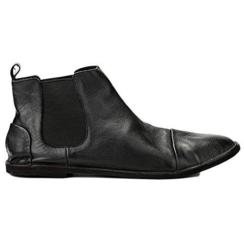 Stivali da Basse Nozze Sicurezza Pelle Chelsea Scarpe da Uomo Classic Black Boots Autunno Uomo Uomo Brogue UO8OFw