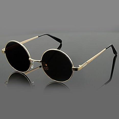 Burenqi Occhiali da sole Occhiali da sole rotondi, Round bicchieri e bicchieri antichi,E