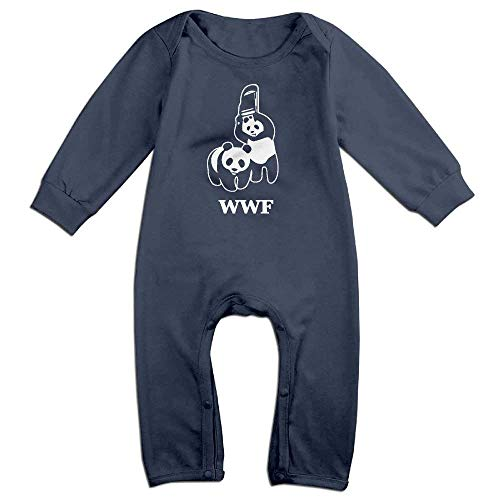 WWF Panda Bear Wrestling Baby Long Sleeves Onesie Jumpsuit Playsuit Outfits Clothes for 6-24m Baby by OMYOT
